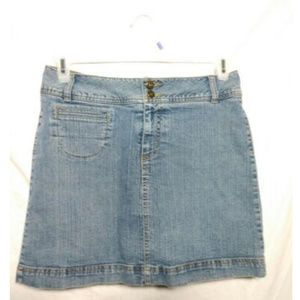 Denim Jean Skort Mini Skirt Blue Size 8